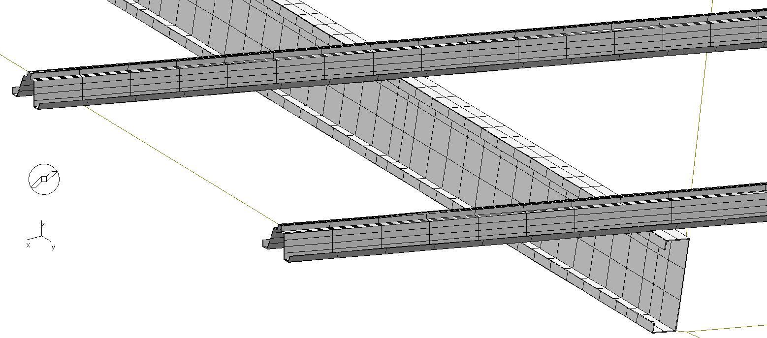 detail de rail pour panneaux photovoltaique sur panne
